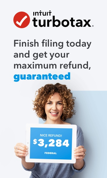 Intuit TurboTax - Finish filing and get your maximum refund, guaranteed.
