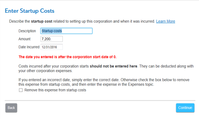 Changing the startup date on TurboTax Business 201... - Intuit Turbo