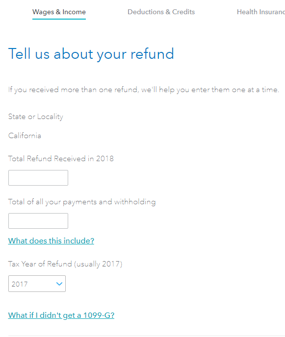 Total Refund Received In 2018 Of All Your Payments And Withholding 1099g